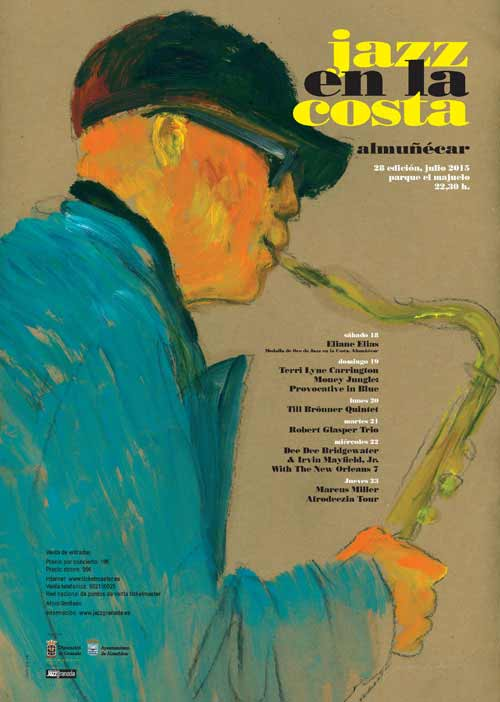 Cartel Jazz en la costa
