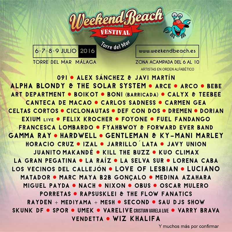Weekend Beach Cartel 2016